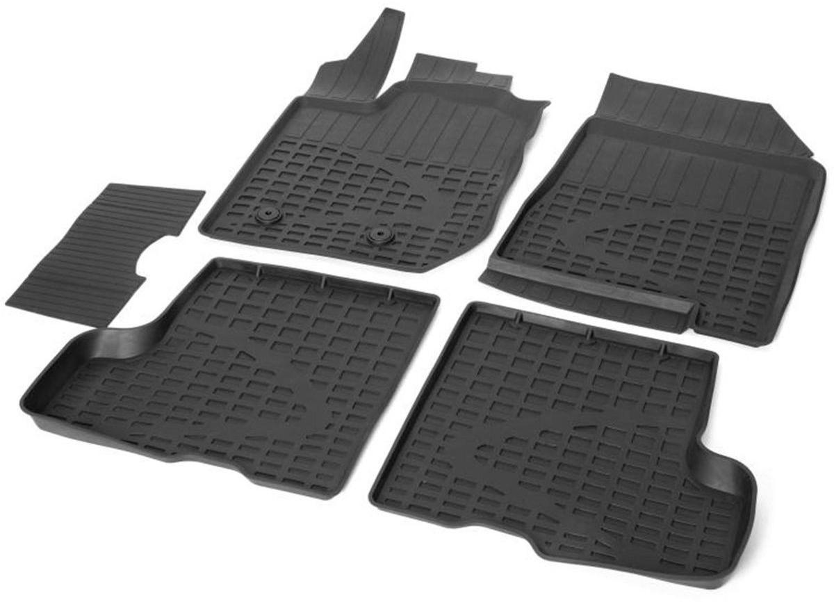 Коврики в салон литьевые Rival для Lada Xray 2016-н.в., с бардачком и без бардачка, с крепежом, с перемычкой, резина, 5 шт. 6600700266007002Прочные и долговечные коврики Rival в салон автомобиля, изготовлены из высококачественного и экологичного сырья. Коврики полностью повторяют геометрию салона вашего автомобиля.- Надежная система крепления, позволяющая закрепить коврик на штатные элементы фиксации, в результате чего отсутствует эффект скольжения по салону автомобиля.- Высокая стойкость поверхности к стиранию.- Специализированный рисунок и высокий борт, препятствующие распространению грязи и жидкости по поверхности коврика.- Перемычка задних ковриков в комплекте предотвращает загрязнение тоннеля карданного вала.- Коврики произведены из первичных материалов, в результате чего отсутствует неприятный запах в салоне автомобиля.- Высокая эластичность, можно беспрепятственно эксплуатировать при температуре от -45°C до +45°C. Уважаемые клиенты! Обращаем ваше внимание, что коврики имеют форму, соответствующую модели данного автомобиля. Фото служит для визуального восприятия товара.