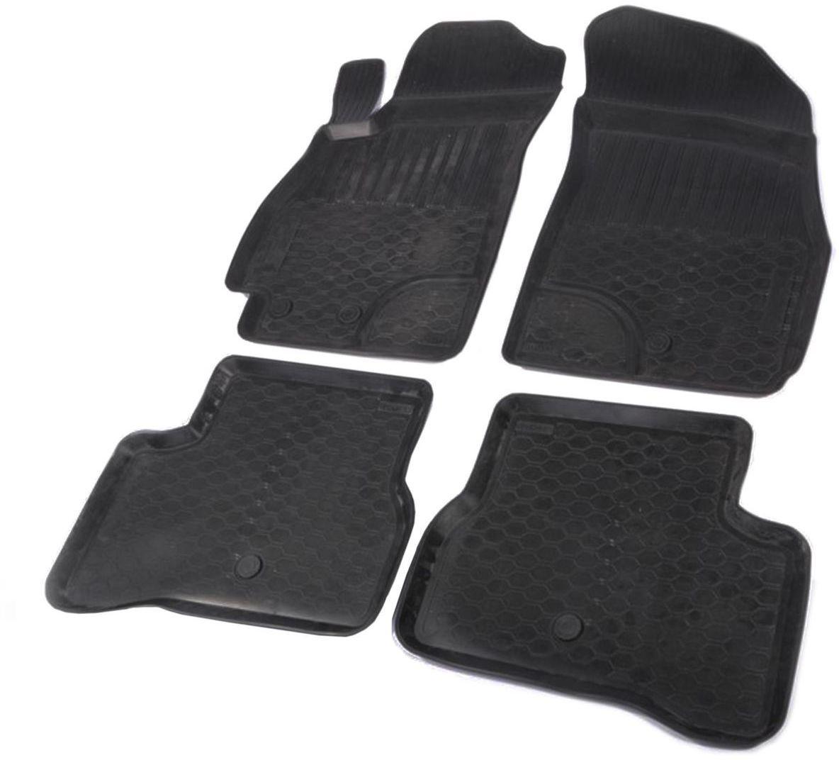 Коврики в салон Rival для Hyundai Accent 2005-2013, с крепежом, полиуритан, 4 шт. 1231100112311001Прочные и долговечные коврики Rival в салон автомобиля, изготовлены из высококачественного и экологичного сырья. Коврики полностью повторяют геометрию салона вашего автомобиля.- Надежная система крепления, позволяющая закрепить коврик на штатные элементы фиксации, в результате чего отсутствует эффект скольжения по салону автомобиля.- Высокая стойкость поверхности к стиранию.- Специализированный рисунок и высокий борт, препятствующие распространению грязи и жидкости по поверхности коврика.- Перемычка задних ковриков в комплекте предотвращает загрязнение тоннеля карданного вала.- Коврики произведены из первичных материалов, в результате чего отсутствует неприятный запах в салоне автомобиля.- Высокая эластичность, можно беспрепятственно эксплуатировать при температуре от -45°C до +45°C. Уважаемые клиенты! Обращаем ваше внимание, что коврики имеют форму, соответствующую модели данного автомобиля. Фото служит для визуального восприятия товара.