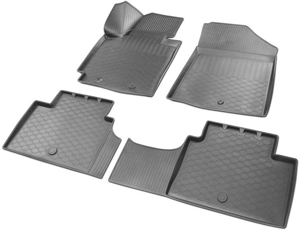 Коврики в салон Rival для Kia Soul 2013-н.в., с крепежом, с перемычкой, полиуритан, 4 шт. 1280600212806002Прочные и долговечные коврики Rival в салон автомобиля, изготовлены из высококачественного и экологичного сырья. Коврики полностью повторяют геометрию салона вашего автомобиля.- Надежная система крепления, позволяющая закрепить коврик на штатные элементы фиксации, в результате чего отсутствует эффект скольжения по салону автомобиля.- Высокая стойкость поверхности к стиранию.- Специализированный рисунок и высокий борт, препятствующие распространению грязи и жидкости по поверхности коврика.- Перемычка задних ковриков в комплекте предотвращает загрязнение тоннеля карданного вала.- Коврики произведены из первичных материалов, в результате чего отсутствует неприятный запах в салоне автомобиля.- Высокая эластичность, можно беспрепятственно эксплуатировать при температуре от -45°C до +45°C. Уважаемые клиенты! Обращаем ваше внимание, что коврики имеют форму, соответствующую модели данного автомобиля. Фото служит для визуального восприятия товара.
