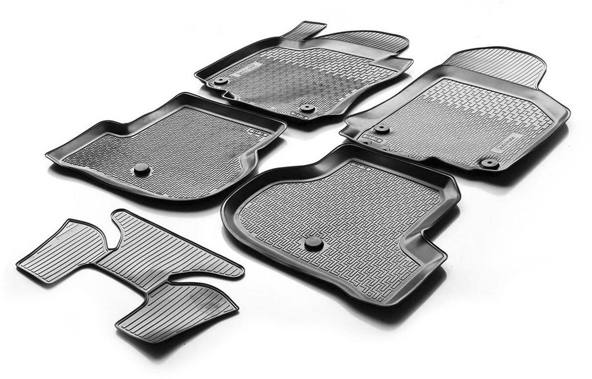 Коврики в салон Rival для Volkswagen Polo седан 2010-н.в., с крепежом, с перемычкой, полиуритан, 5 шт. 1580400315804003Прочные и долговечные коврики в салон автомобиля, изготовлены из высококачественного и экологичного сырья, полностью повторяют геометрию салона вашего автомобиля.- Надежная система крепления, позволяющая закрепить коврик на штатные элементы фиксации, в результате чего отсутствует эффект скольжения по салону автомобиля.- Высокая стойкость поверхности к стиранию.- Специализированный рисунок и высокий борт, препятствующие распространению грязи и жидкости по поверхности коврика.- Перемычка задних ковриков в комплекте предотвращает загрязнение тоннеля карданного вала.- Произведены из первичных материалов, в результате чего отсутствует неприятный запах в салоне автомобиля.- Высокая эластичность, можно беспрепятственно эксплуатировать при температуре от -45 C до +45 C.Уважаемые клиенты!Обращаем ваше внимание, что коврики имеет форму соответствующую модели данного автомобиля. Фото служит для визуального восприятия товара.