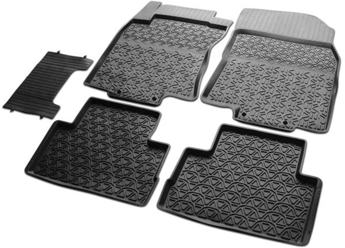 Коврики в салон литьевые Rival для Nissan Qashqai 2015-н.в., российская сборка, с крепежом, с перемычкой, резина, 5 шт. 6410500164105001Коврики изготовлены из высококачественного и экологичного сырья с использованием технологии высокоточного литься под давлением, полностью повторяют геометрию салона вашего автомобиля.- Усиленная зона подпятника под педалями защищает наиболее подверженную истиранию область.- Надежная система крепления, позволяющая закрепить коврик на штатные элементы фиксации, в результате чего отсутствует эффект скольжения по салону автомобиля.- Высокая стойкость поверхности к стиранию.- Специализированный рисунок и высокий борт, препятствующие распространению грязи и жидкости по поверхности коврика.- Произведены из первичных материалов, в результате чего отсутствует неприятный запах в салоне автомобиля.- Перемычка задних ковриков в комплекте предотвращает загрязнение тоннеля карданного вала.- Высокая эластичность, можно беспрепятственно эксплуатировать при температуре от -45 C до +45 C.Уважаемые клиенты!Обращаем ваше внимание, что коврики имеет форму соответствующую модели данного автомобиля. Фото служит для визуального восприятия товара.