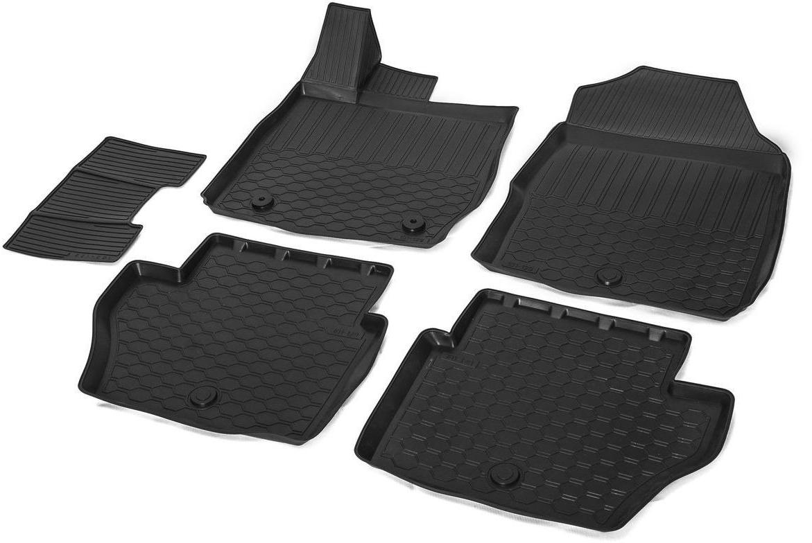 Коврики в салон Rival для Ford Fiesta 2015-н.в., седан, хэтчбек, с крепежом, с перемычкой, полиуритан, 5 шт. 1180500111805001Прочные и долговечные коврики Rival в салон автомобиля, изготовлены из высококачественного и экологичного сырья, полностью повторяют геометрию салона вашего автомобиля. - Усиленная зона подпятника под педалями защищает наиболее подверженную истиранию область.- Надежная система крепления, позволяющая закрепить коврик на штатные элементы фиксации, в результате чего отсутствует эффект скольжения по салону автомобиля.- Высокая стойкость поверхности к стиранию.- Специальный рисунок и высокий борт, препятствующие распространению грязи и жидкости по поверхности коврика.- Произведены из первичных материалов, в результате чего отсутствует неприятный запах в салоне автомобиля.- Перемычка задних ковриков в комплекте предотвращает загрязнение тоннеля карданного вала.- Высокая эластичность, можно беспрепятственно эксплуатировать при температуре от -45°C до +45°С. Уважаемые клиенты!Обращаем ваше внимание, что коврики имеет форму соответствующую модели данного автомобиля. Фото служит для визуального восприятия товара.