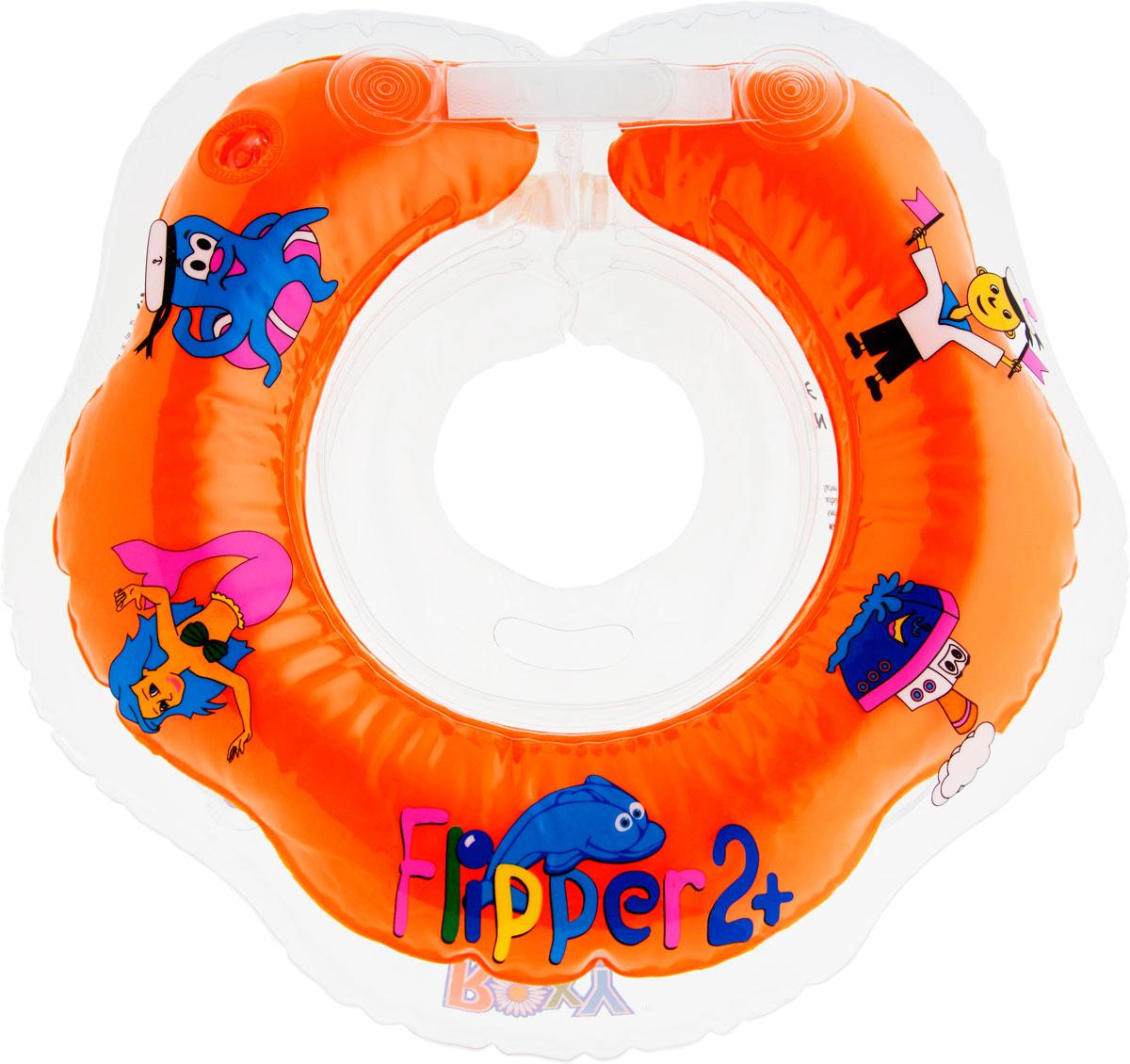 ROXY-KIDS Круг на шею для купания малышей Flipper 2+ круг для купания roxy kids flipper рыцарь fl006