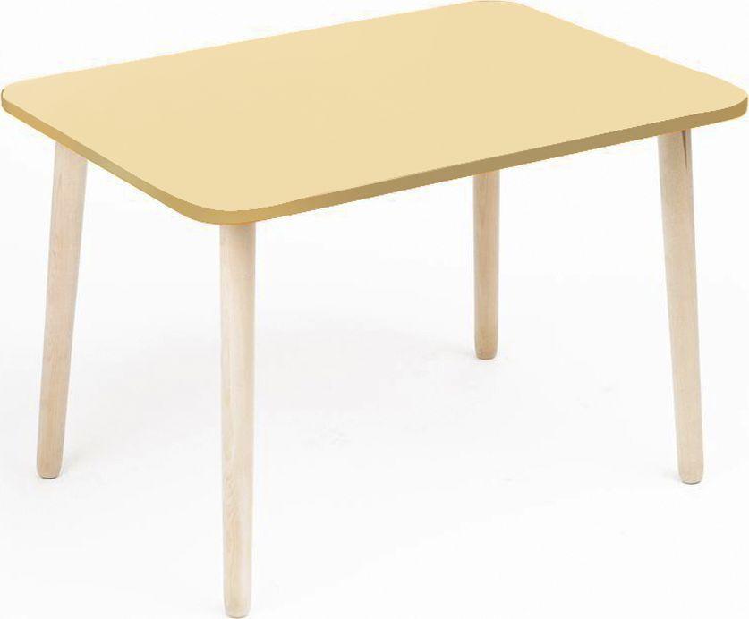 Крошка.RU Джери Стол детский цвет ваниль33676Стол серии детской мебели Джери является прекрасным дополнением в серии. Столешница стола сделана из МДФ крашенного. Цвета можно выбрать совершенно любые. Опоры детского столика сделаны из массива березы - экологичного материала. Размер стола стандартный. Столик нерегулируемый и предназначен для детей от 1,5 до 6 лет