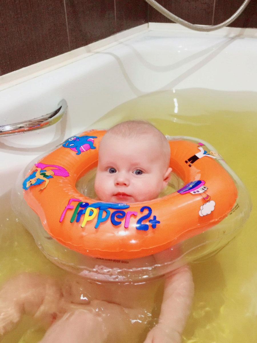 ROXY-KIDSКруг на шею для купания малышей Flipper 2+ Roxy-kids