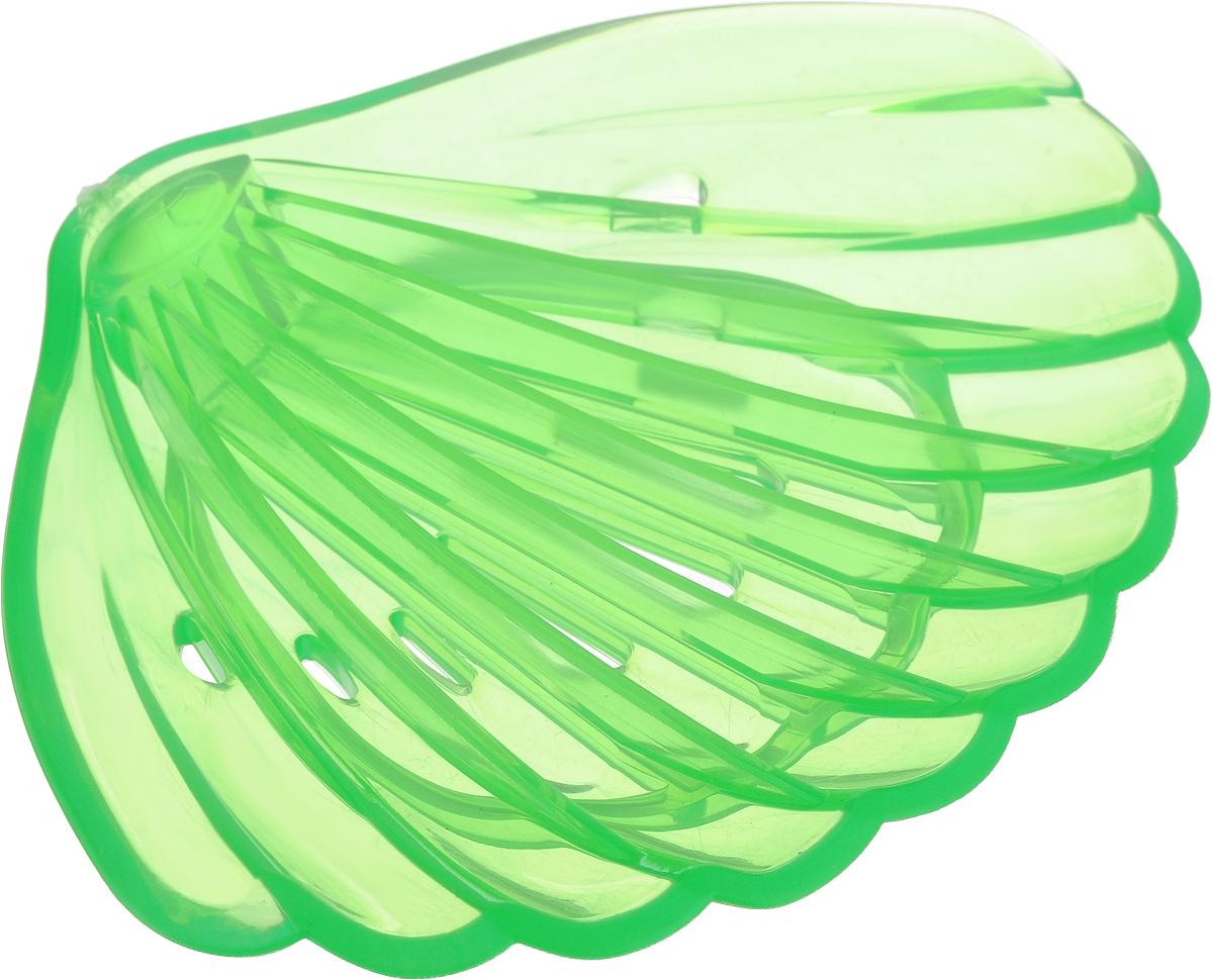 Мыльница Libra Plast Ракушка, цвет: салатовый. LP0047LP0047_салатовыйМыльница Libra Plast Ракушка - незаменимый аксессуар для ванной комнаты.Выполненная из мягкого полимерного материала (ПВХ) мыльница удобно размещается на горизонтальных поверхностях раковины или имеющейся столешнице, не скользит и не царапает поверхность. Особая форма мыльниц позволяет избежать соскальзывания мыла, а дырочки на дне мыльницы пропускают воду, не позволяя мылу размокнуть. Мыльница не имеет острых углов, безопасна и удобна в использовании. Оптимальный размер позволяет разместить самые распространенные формы мыла.Размеры: 13 х 10 х 1,5 см.