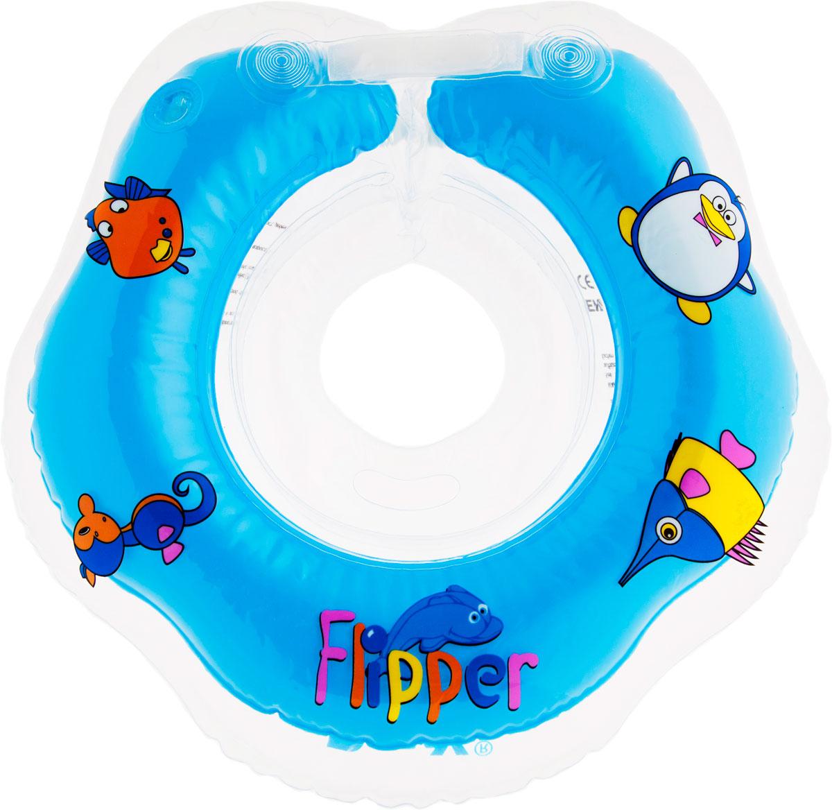 Roxy-kids Круг музыкальный на шею для купания Flipper -  Все для купания