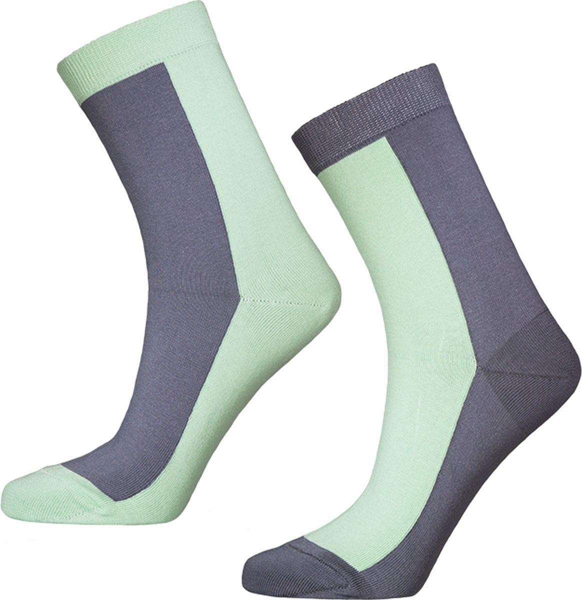 где купить Носки мужские Big Bang Socks, цвет: мятный, серый, 2 пары. d411. Размер 40/44 по лучшей цене