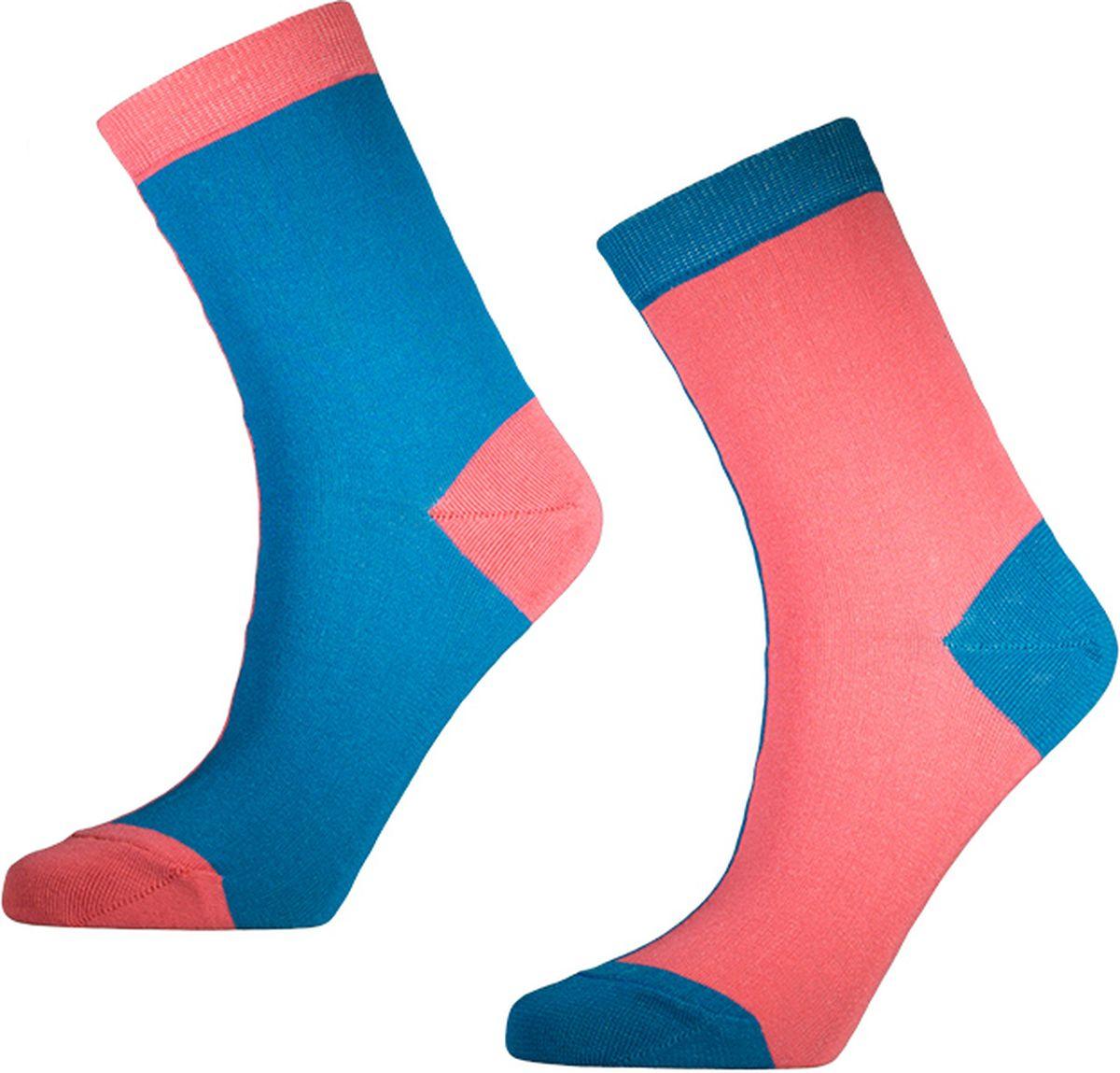 Носки мужские Big Bang Socks, цвет: розовый, голубой, 2 пары. d451. Размер 40/44 носки minecraft socks 3 pack green зеленые s 3 пары 11750