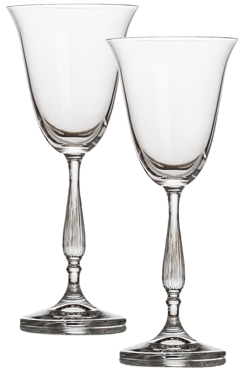 Набор бокалов для вина Crystalite Bohemia Антик, 185 мл, 2 шт набор бокалов для бренди 6 шт crystalite bohemia набор бокалов для бренди 6 шт