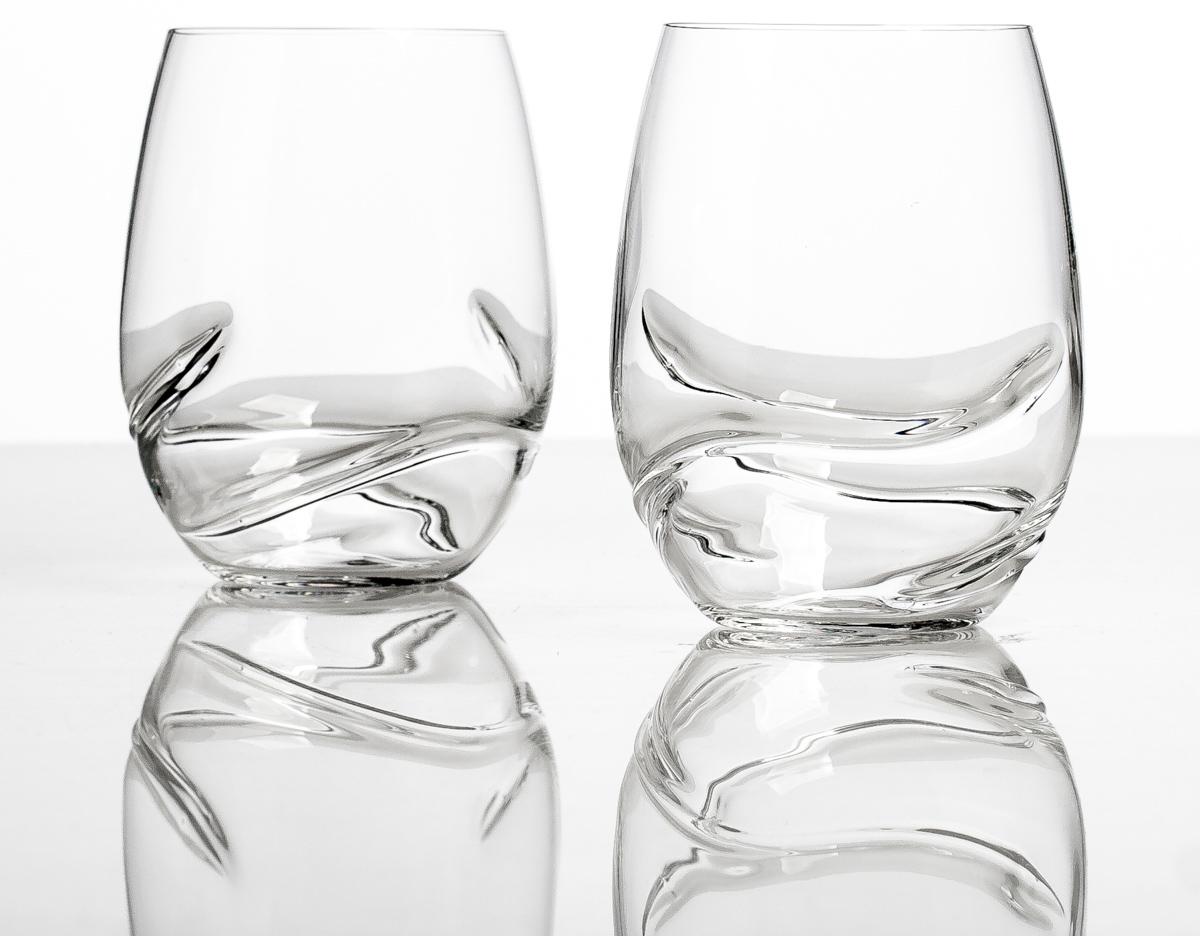 Набор стаканов Bohemia Crystall Турбуленс, для воды, 500 мл, 2 шт96132Отличный подарок! Безусловный хит продаж! Выдувное стекло