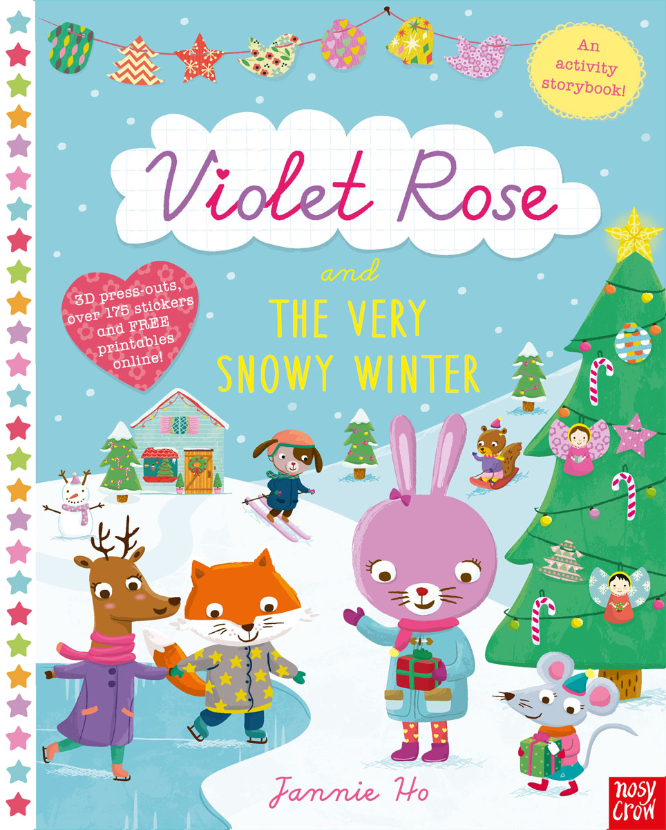 Violet Rose and the Very Snowy Winter Sticker Activity Book 30pcs in one postcard take a walk on the go dubai arab emirates christmas postcards greeting birthday message cards 10 2x14 2cm