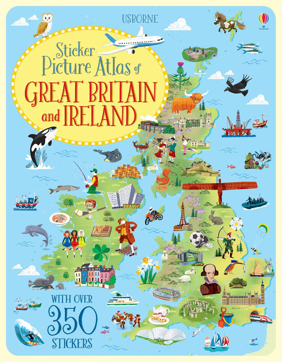 Sticker Picture Atlas of Britain and Ireland the picture atlas