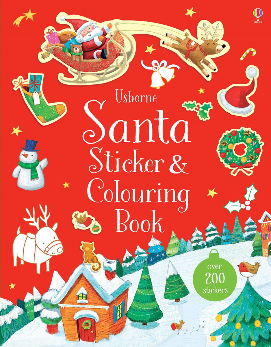 Santa Sticker and Colouring Book fairy ponies sticker and colouring book