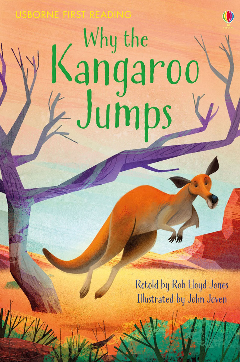 Why the Kangaroo Jumps the usborne terrific colouring and sticker book