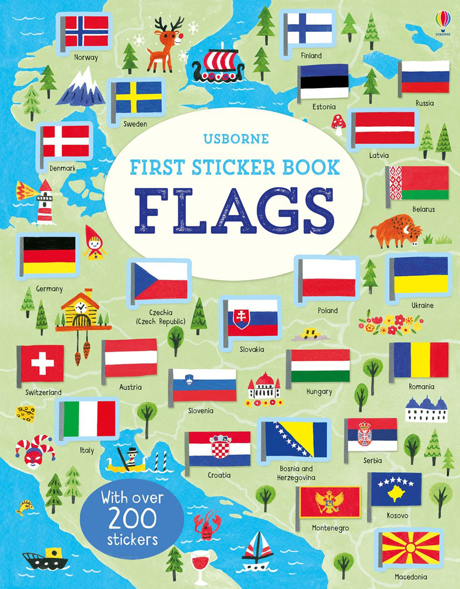First Sticker Book Flags first sticker book cities of the world