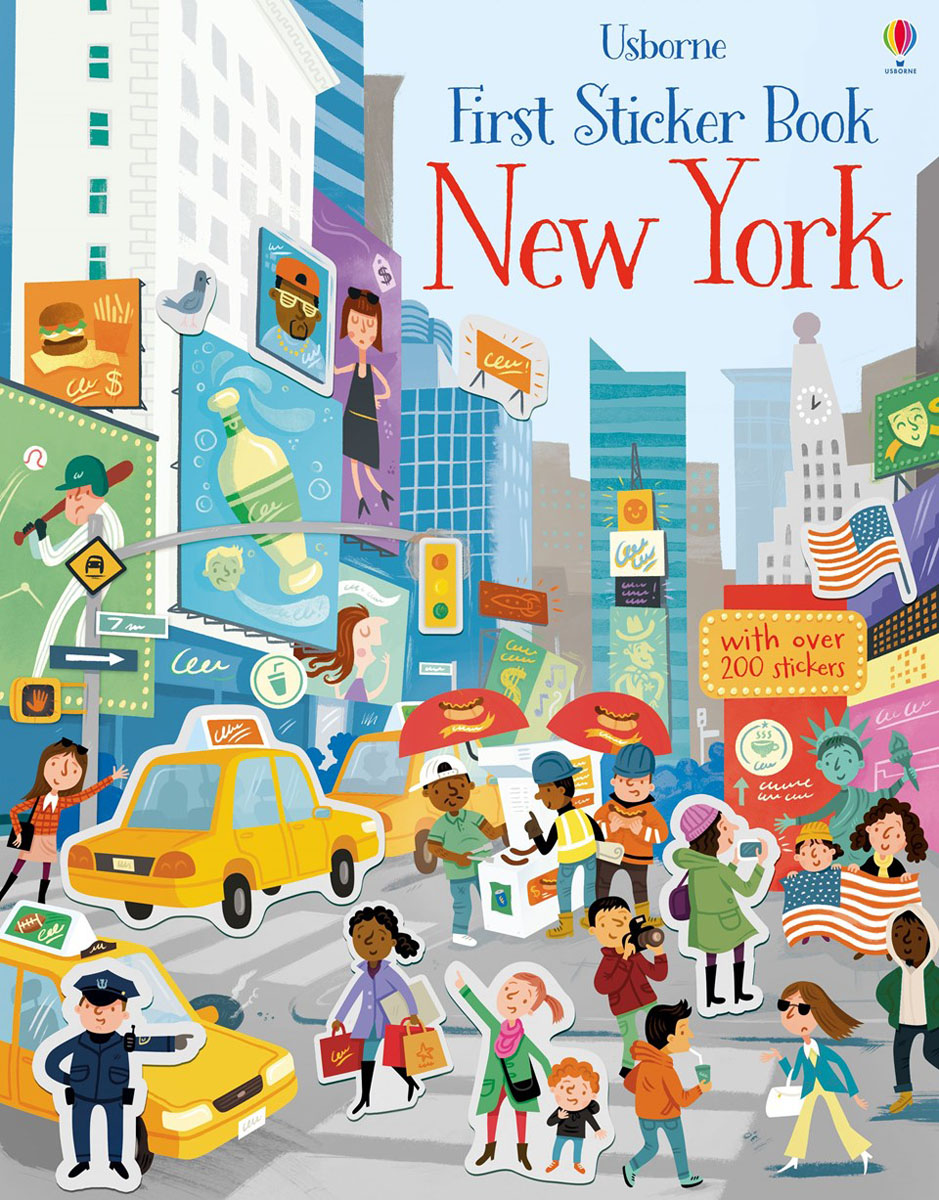 First Sticker Book New York brooklyn bridge pop up card 3d new york souvenir cards