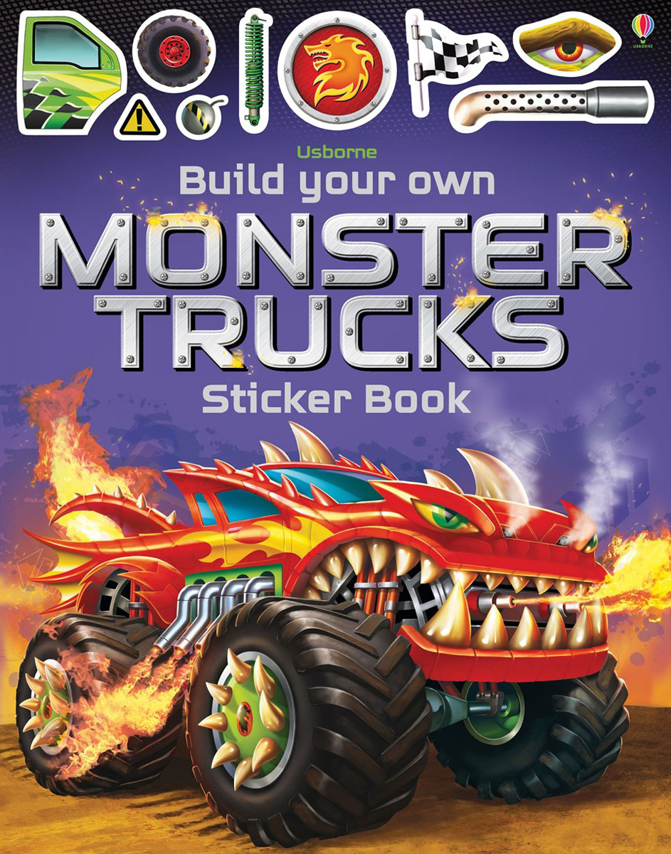 Build Your Own Monster Trucks Sticker Book monster high happy howlidays a creepy cool activity book