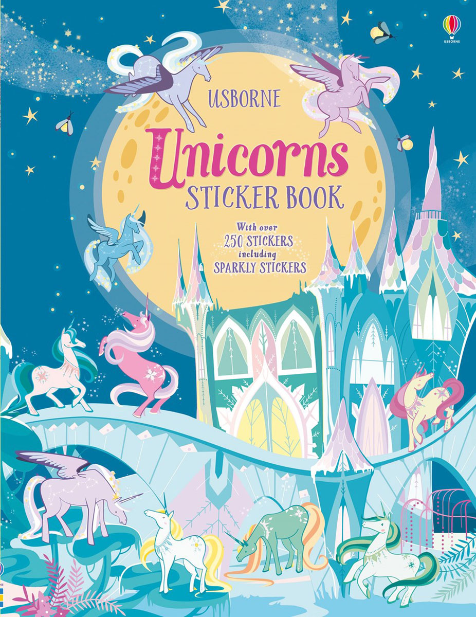 Unicorns Sticker Book the colouring book of cards and envelopes – unicorns and rainbows