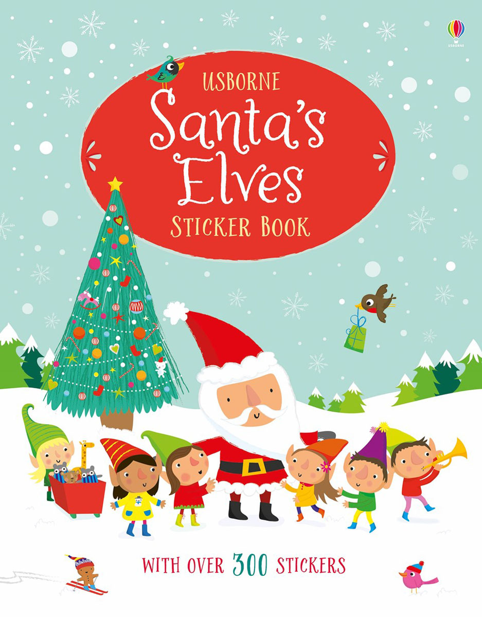 Santa's Elves Sticker Book santa first colouring book with stickers