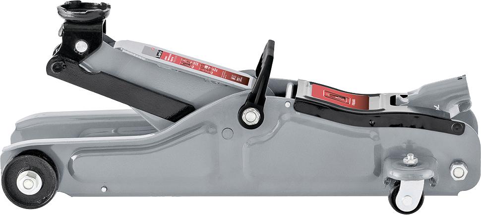 Домкрат Matrix Low Profile, гидравлический подкатной, 2 т, высота подъема 8,5-33 см. 5101951019Подкатные домкраты Matrix предназначены для обслуживания современных легковых автомобилей, в том числе с небольшим клиренсом: имеют низкую высоту подхвата (85 мм). Могут использоваться как для самостоятельного применения, так и на станциях технического обслуживания. высота подхвата 85 мм.;клапан защиты от перегрузки;усиленная конструкция;резиновая накладка на опорную площадку в комплекте.