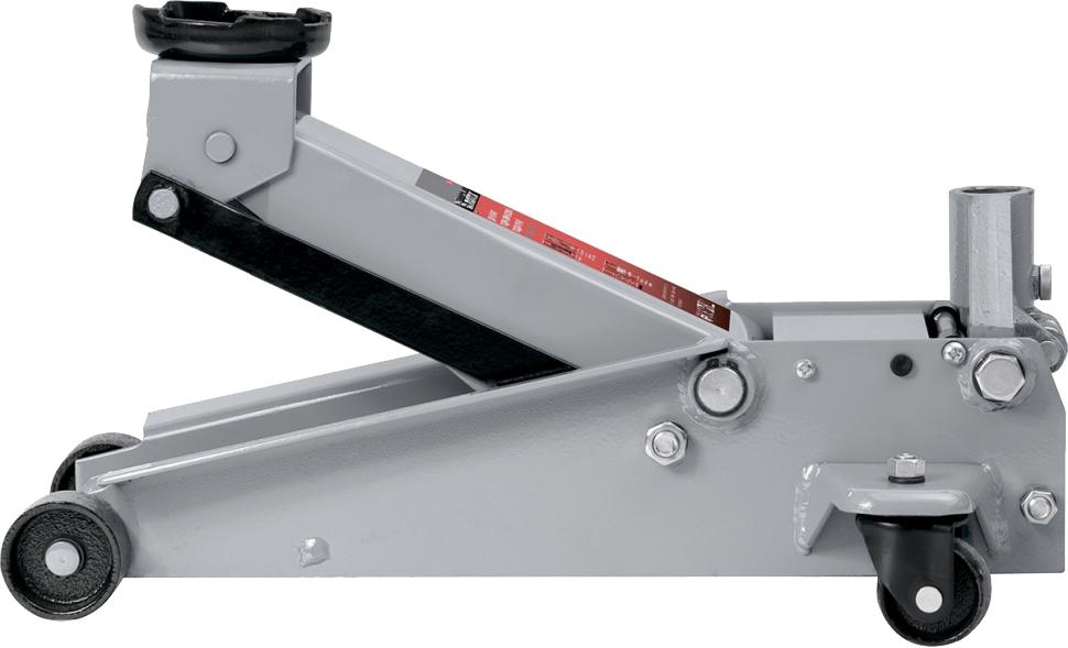 Домкрат Matrix, гидравлический подкатной, 3 т, высота подъема 13-46,5 см51047Профессиональный подкатной домкрат торговой марки MATRIX предназначен для обслуживания любых типов легковых автомобилей. Оснащен домкрат системой быстрого подъема рабочей части QUICK LIFT позволяющей поднять опорную площадку за 10 полных качков рукояткой.Двухштоковый механизм быстрого подъема Quick Lift;износостойкий механизм опускания через кардан;клапан защиты от перегрузки;усиленная конструкция;резиновая накладка на опорную площадку в комплекте.