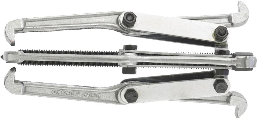 Съемник механический Sparta, тройной, диаметр 200 мм525405Съемник универсальный тройной является как внешним, так и внутренним. Оснащен тремя поворотными двухсторонними захватами. Силовой болт инструмента имеет шестигранный наконечник. Упоры на обоих концах захватов съемника имеют одинаковую ширину, а вылет захватов при их перестановке меняется приблизительно в полтора раза.
