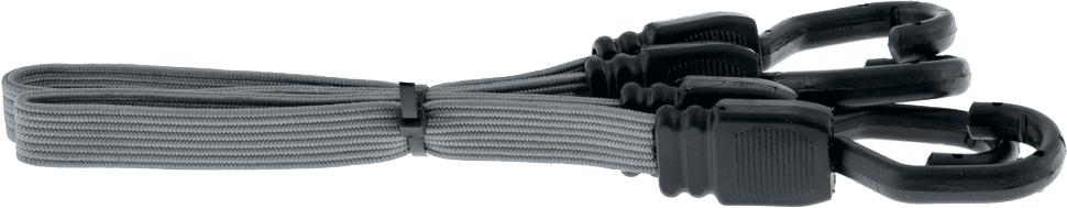 Резинка багажная Stels, плоская, цвет: серый, 60 см54401Изготовлены из высококачественных материалов.Ширина резинки 18 мм.Применяются для закрепления грузов, например, на автомобильном багажнике.