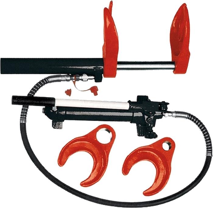 Съемник пружин Matrix, гидравлический, 1 т567705Съемник Matrix - профессиональное гидравлическое приспособление для снятия установкипружин автомобиля. В комплект входит гидравлический насос, цилиндр, лапки двух размеров.
