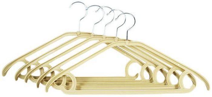 Набор вешалок Удачная покупка YJ-10, цвет: бежевый, 5 штУТ-00000181Набор Удачная покупка YJ-10 включает 5 вешалок для одежды, выполненных из пластика с металлическим крючком. Изделия легкие и удобные в использовании.