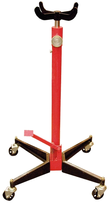 Стойка трансмиссионная гидравлическая Matrix, 0,5 т, высота подъема 113-194,5 см567375Стойка трансмиссионная используется при монтаже и демонтаже узлов трансмиссий и других агрегатов автомобиля, установленного на смотровой яме, эстакаде или подъемнике для ремонта или технического обслуживания. Данная стойка является переносным подъемным устройством. С ее помощью можно поднять и переместить снятый узел.