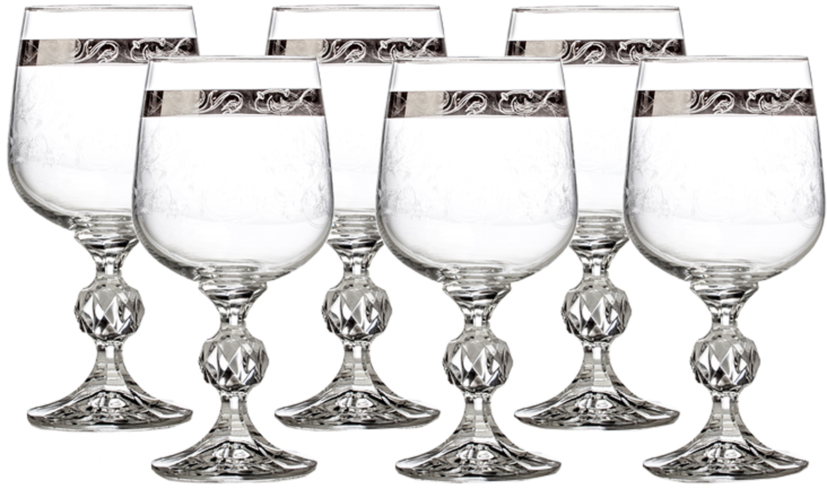 Набор бокалов для вина Crystalite Bohemia Клаудия, 230 мл, 6 шт partymania украшения для бокалов 12 шт