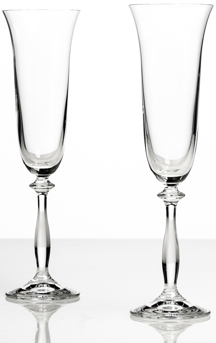 Набор бокалов для шампанского Bohemia Crystall Анжела, 190 мл, 2 шт bohemia crystal набор бокалов для шампанского felina 25 см 2 шт