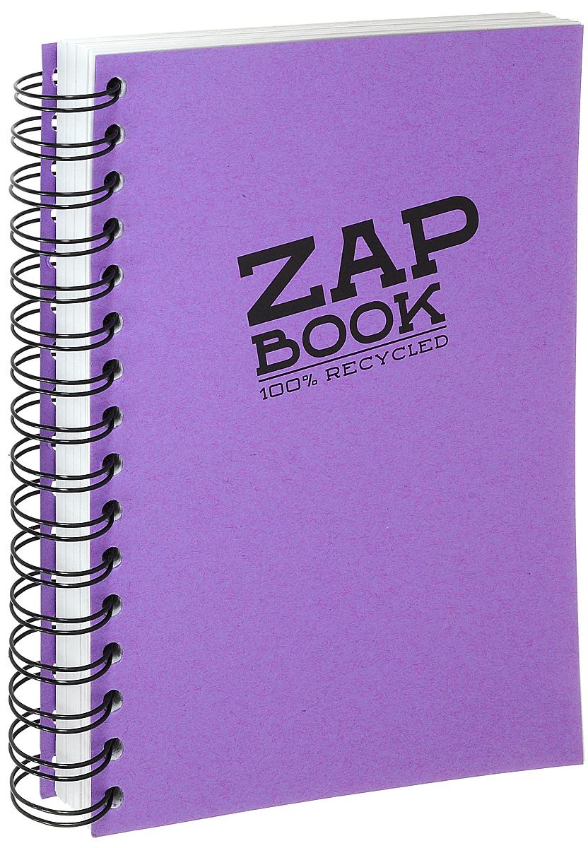 """Блокнот Clairefontaine """"Zap Book"""", на спирали, цвет: фиолетовый, формат A5, 160 листов"""