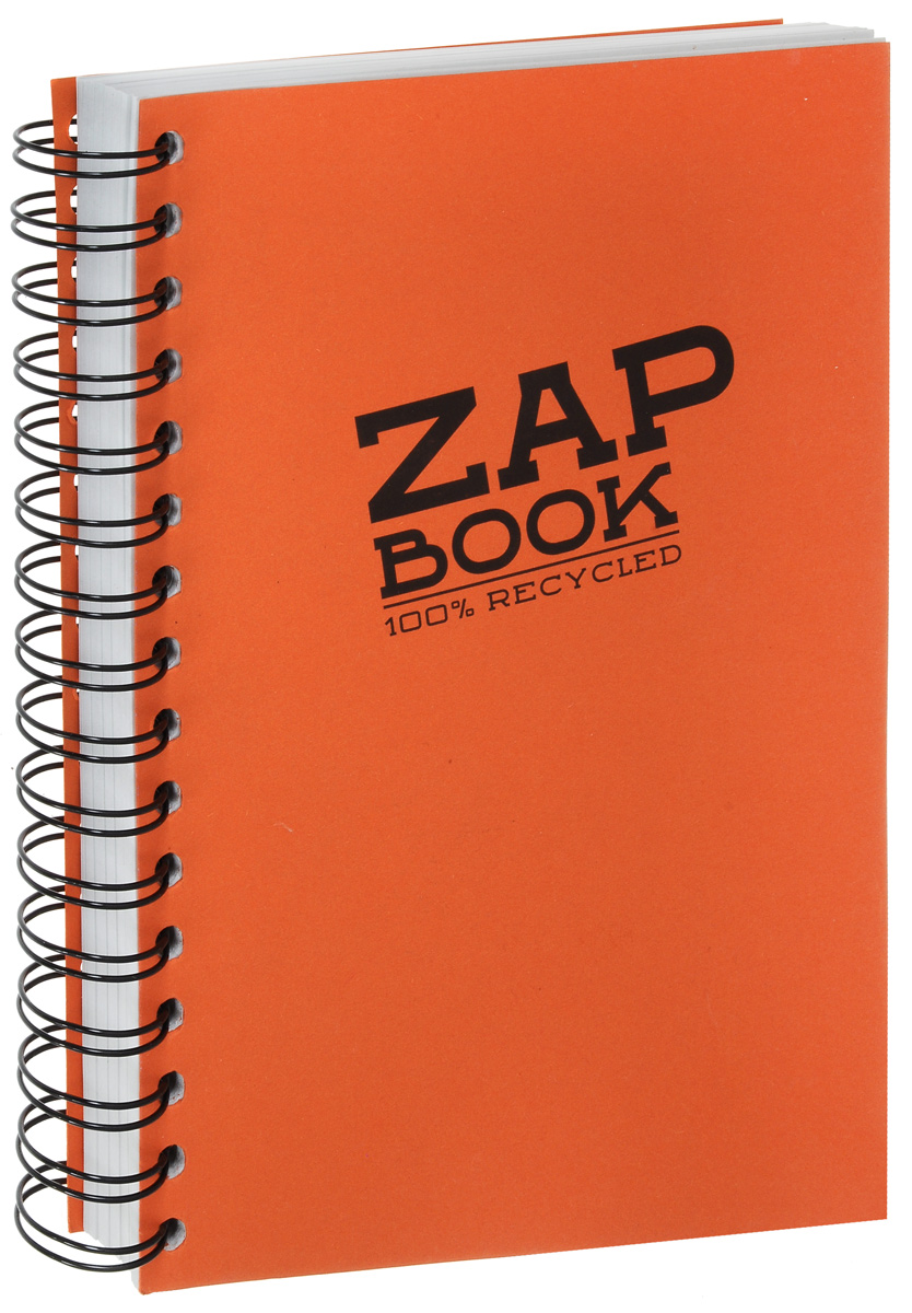 Блокнот Clairefontaine Zap Book, на спирали, цвет: оранжевый, формат A5, 160 листов блокнот clairefontaine rhodia точки формат a6 цвет обложки оранжевый 96 листов