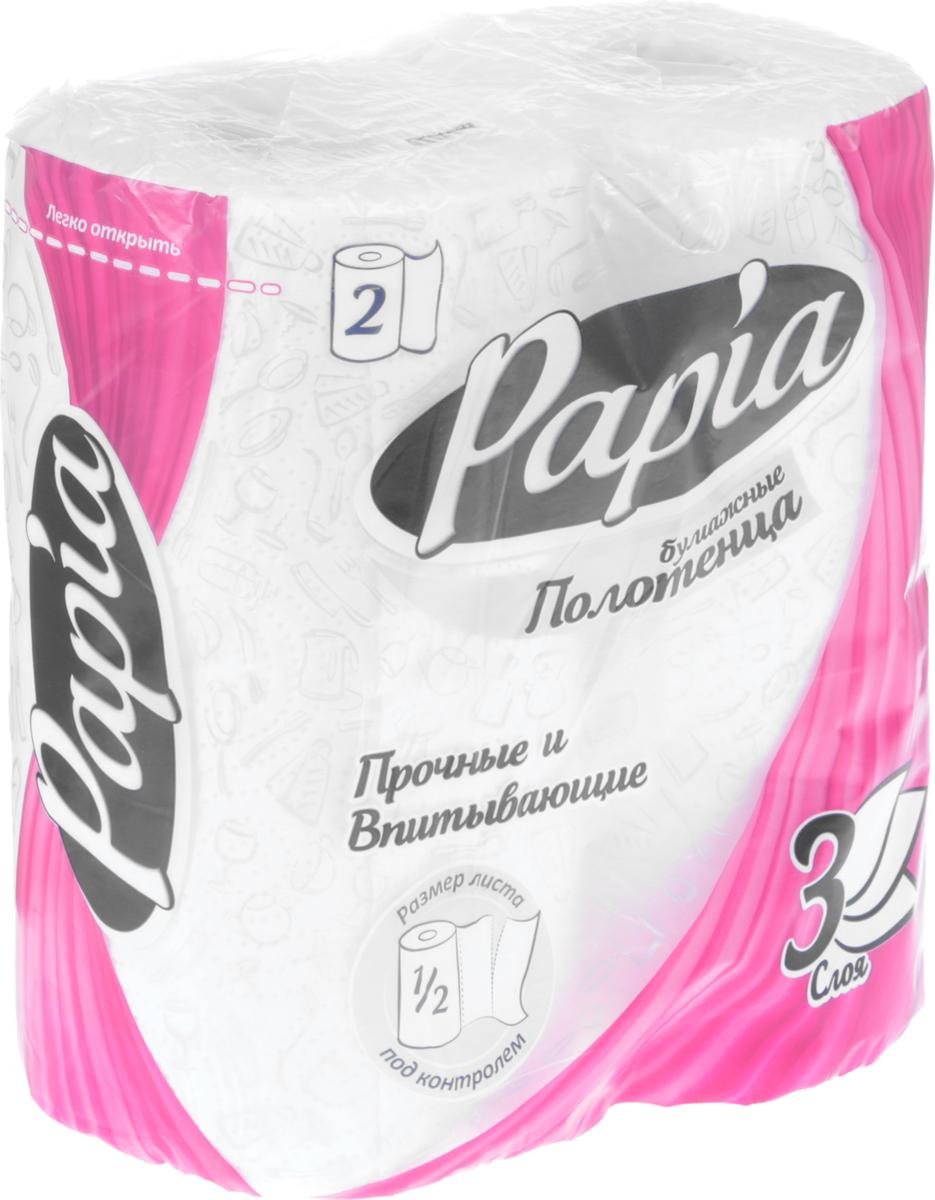 Бумажные полотенца Papia, трехслойные, цвет: белый, 2 рулона аксессуар защитное стекло samsung galaxy j7 neo 5 5 0 33mm red line tempered glass