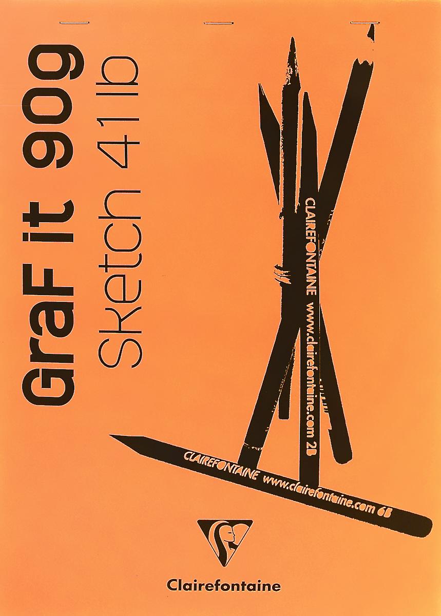 Блокнот Clairefontaine Graf It, для сухих техник, с перфорацией, цвет: оранжевый 2, формат A4, 80 листов96623С_оранжевый 2Блокнот Clairefontaine Graf It, для сухих техник, с перфорацией, цвет: оранжевый 2, формат A4, 80 листов