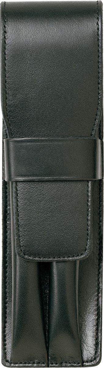 Чехол для карманной ручки Lamy станет прекрасной покупкой.  Чехол выполнен из натуральной кожи черного цвета.  Чехол на две ручки.  Чехол для ручки А32 станет прекрасным подарком на любое торжество.