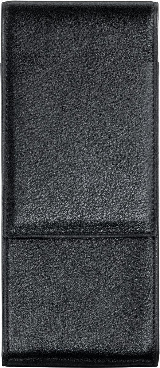 Lamy Чехол для ручки A203 цвет черный1224774Чехол на три ручки из высококачественной кожи с бархатисто-матовой поверхностью. С разделителями внутри. Закрывается с помощью магнита.Цвет: черный