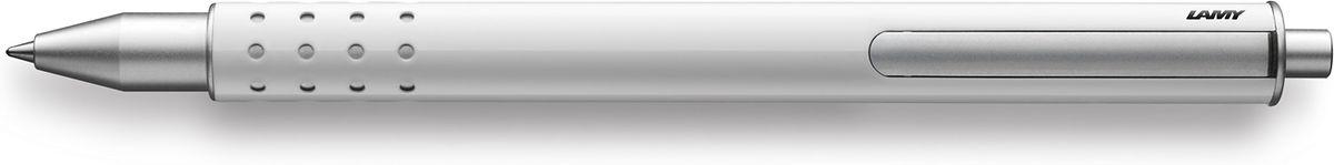 Lamy Swift Ручка-роллер 334 M66 черная цвет корпуса белый1626056LAMY swift (334)Чернильный роллер без колпачка. В этой модели единственный в своем роде дизайн соединен с инновативной функциональностью.32 круглых отверстия не только оптически отделяют гладкий корпус от зоны хвата, но и не дают пальцам скользить при письме. Роллер пишет мягко и почти без нажима - подобно перьевой ручке, но прост в обращении, как шариковая, т.к. при письме чернила подаются на бумагу с помощью шарика на конце стержня.Инновативный кнопочный механизм активирует пишущий узел и одновременно утапливает клип внутрь корпуса. Таким образом, клип не мешает при письме. Когда стержень убирается внутрь, клип выдвигается наружу – теперь ручку можно прикрепить к карману пиджака или к обложке ежедневника.Полностью металлический корпус.Белый блестящий лак.Используется со стержнем LAMY M66. Комплектация: подарочный футляр, гарантийная карточка, буклет.Дизайн: Вольфганг ФабианИстория бренда Lamy насчитывает более 80-ти лет, а его философия заключается в слогане Дизайн. Сделано в Германии. Компания получила более 100 самых престижных дизайнерских наград. Все пишущие инструменты Lamy производятся на фабрике в Гейдельберге (Германия).