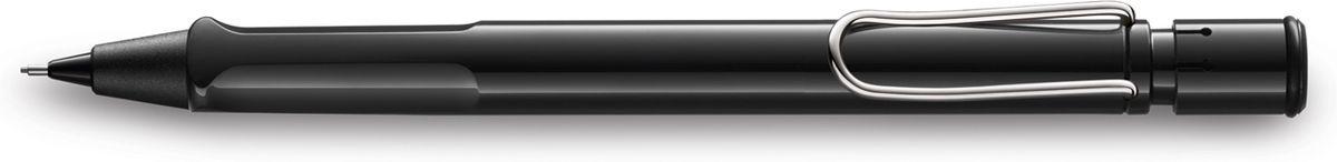 Lamy Карандаш механический Safari цвет черный4000749Самая популярная линейка бренда Lamy.Корпус этого автоматического карандаша выполнен из прочного ABS пластика. Эргономичный хват позволяет пальцам принять правильное положение при письме. Металлический клип на корпусе напоминает по форме канцелярскую скрепку. Пишущий узел активируется с помощью кнопки. Под крышкой кнопки находятся ластик и игла для чистки канала грифеля. Грифельный канал утапливается.Используется с грифелями Lamy M41 (0,5 мм) и ластиком c чистящей иглой Lamy Z18.Поставляется в подарочной коробке. Дизайн: Вольфганг ФабианИстория бренда Lamy насчитывает более 80-ти лет, а его философия заключается в слогане Дизайн. Сделано в Германии. Компания получила более 100 самых престижных дизайнерских наград. Все пишущие инструменты Lamy производятся на фабрике в Гейдельберге (Германия).