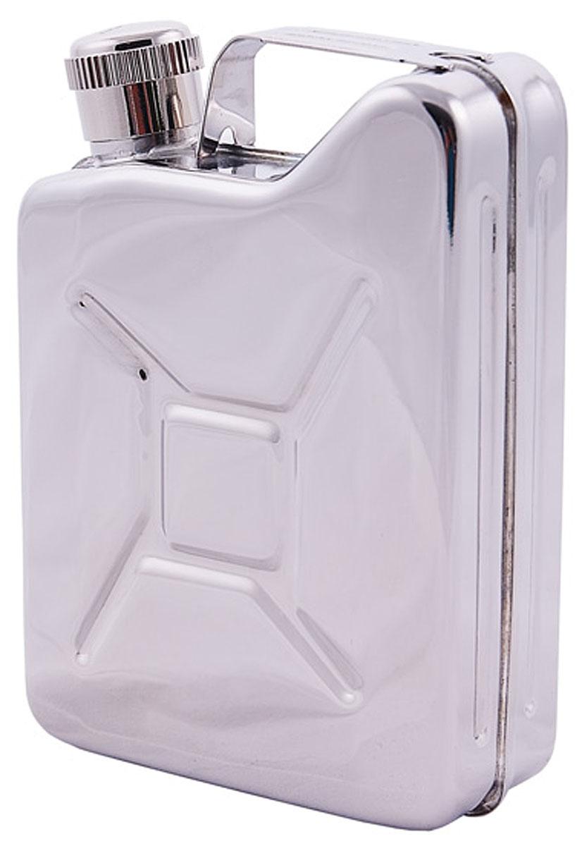 Фляга-канистра AceCamp, цвет: хром, 150 мл. 15121512Фляга AceCamp стилизована на тему канистры для бензина. Выполнена из стали нержавеющей объёмом в 150 м и весом в 92 г. Легко поместится в кармане или даже на связке ключей неутомимого автолюбителя! Оптимальное решение для подарка.
