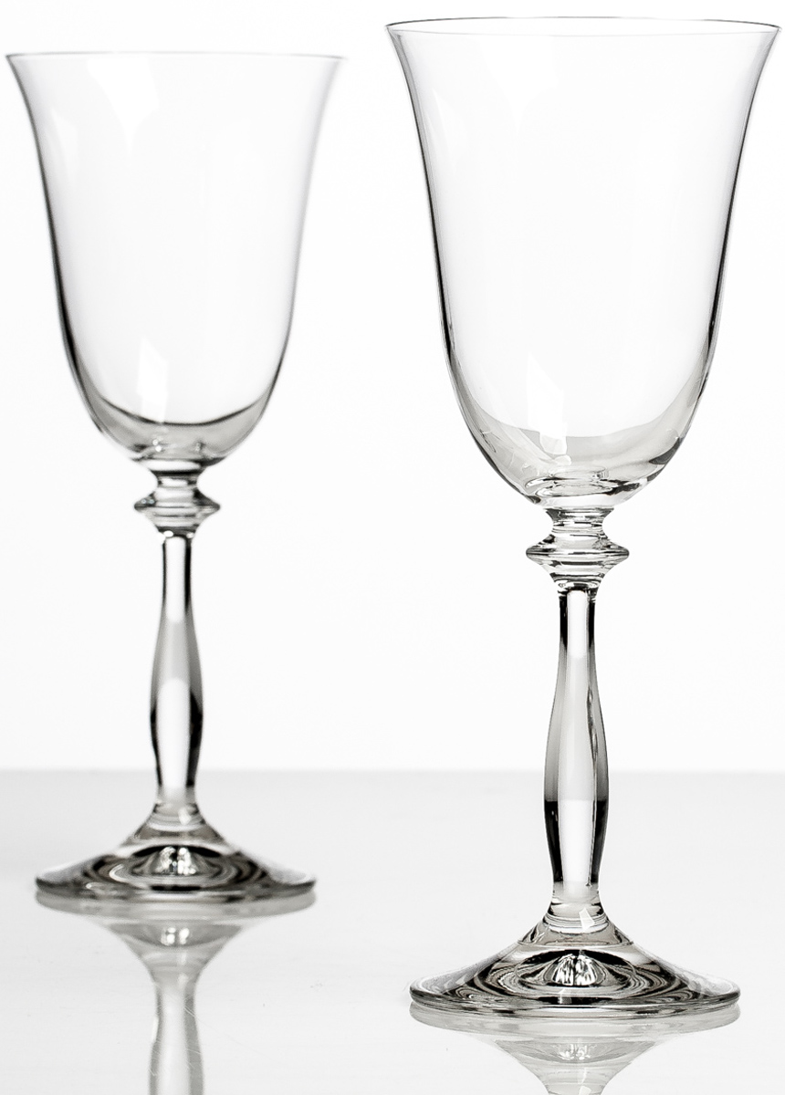Набор бокалов для вина Bohemia Crystall Анжела, 250 мл, 2 шт40600`250х2Отличный подарок! Безусловный хит продаж! Выдувное стекло