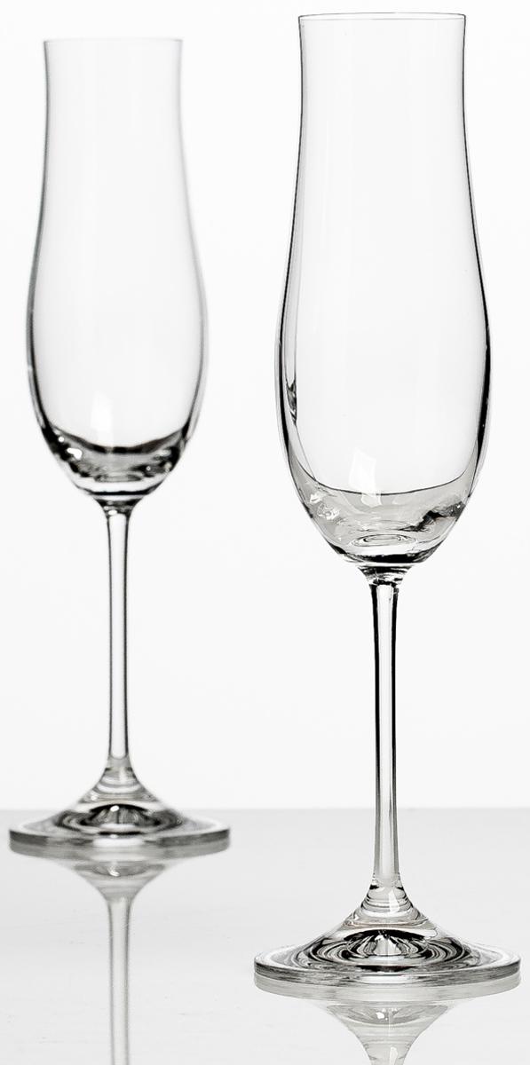 Набор бокалов для шампанского Bohemia Crystall Аттимо, 180 мл, 2 шт bohemia crystal набор бокалов для шампанского felina 25 см 2 шт