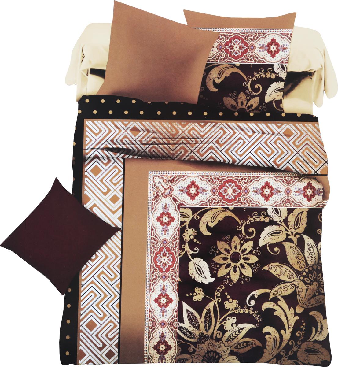 Комплект белья МарТекс Белат, 1,5-спальный, наволочки 70х7001-1332-1Комплект постельного белья МарТекс Белат, выполненный из микрополиэстера, состоит из пододеяльника, простыни и двух наволочек. Изделия оформлены оригинальным принтом.Такой комплект подойдет для любого стилевого и цветового решения интерьера, а также создаст в доме уют. Приобретая комплект постельного белья МарТекс, вы можете быть уверенны в том, что покупкадоставит вам и вашим близким удовольствие и подарит максимальный комфорт.Советы по выбору постельного белья от блогера Ирины Соковых. Статья OZON Гид