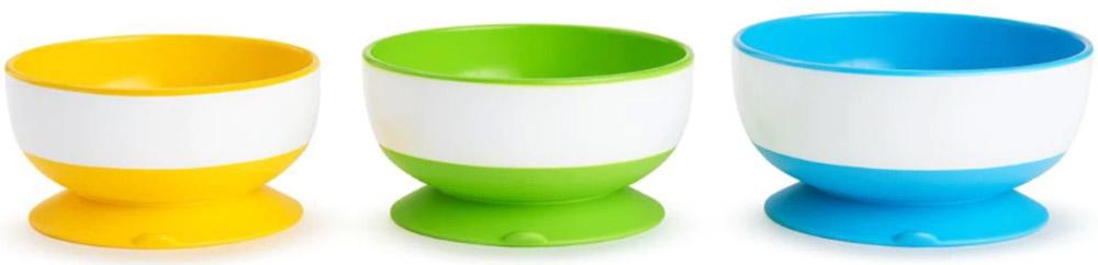 Набор детских тарелок Munchkin, на присосках, 3 шт11075Детские тарелки Munchkin, выполненные из безопасного пластика (несодержит бисфенол А), прекрасно подойдут для кормления малыша исамостоятельного приема им пищи. Тарелки снабжены присосками, которыепрочно удерживают их на поверхности стола, благодаря чему они не упадут, едане прольется, а ваш малыш будет доволен.Материал: пластик, резина. Размер большей тарелки: 15 смх 12 см х 6,5 см. Размер меньшей тарелки: 12 см х 10 см х 5,5 см.Размер упаковки: 17,5 см х 20 см х 13 см. Изготовитель: Китай.Кредо Munchkin, американской компании с 20-летней историей: избавить мир отнадоевших и прозаических товаров, искать умные инновационные решения,которые превращает обыденные задачи в опыт, приносящий удовольствие.Понимая, что наибольшее значение в быту имеют именно мелочи, компаниясоздает уникальные товары, которые помогают поддерживать порядок,организовывать пространство, облегчают уход за детьми - недаром компанияимеет уже более 140 патентов и изобретений, используемых в создании еенеповторимой и оригинальной продукции. Munchkin делает жизнь родителейлегче!