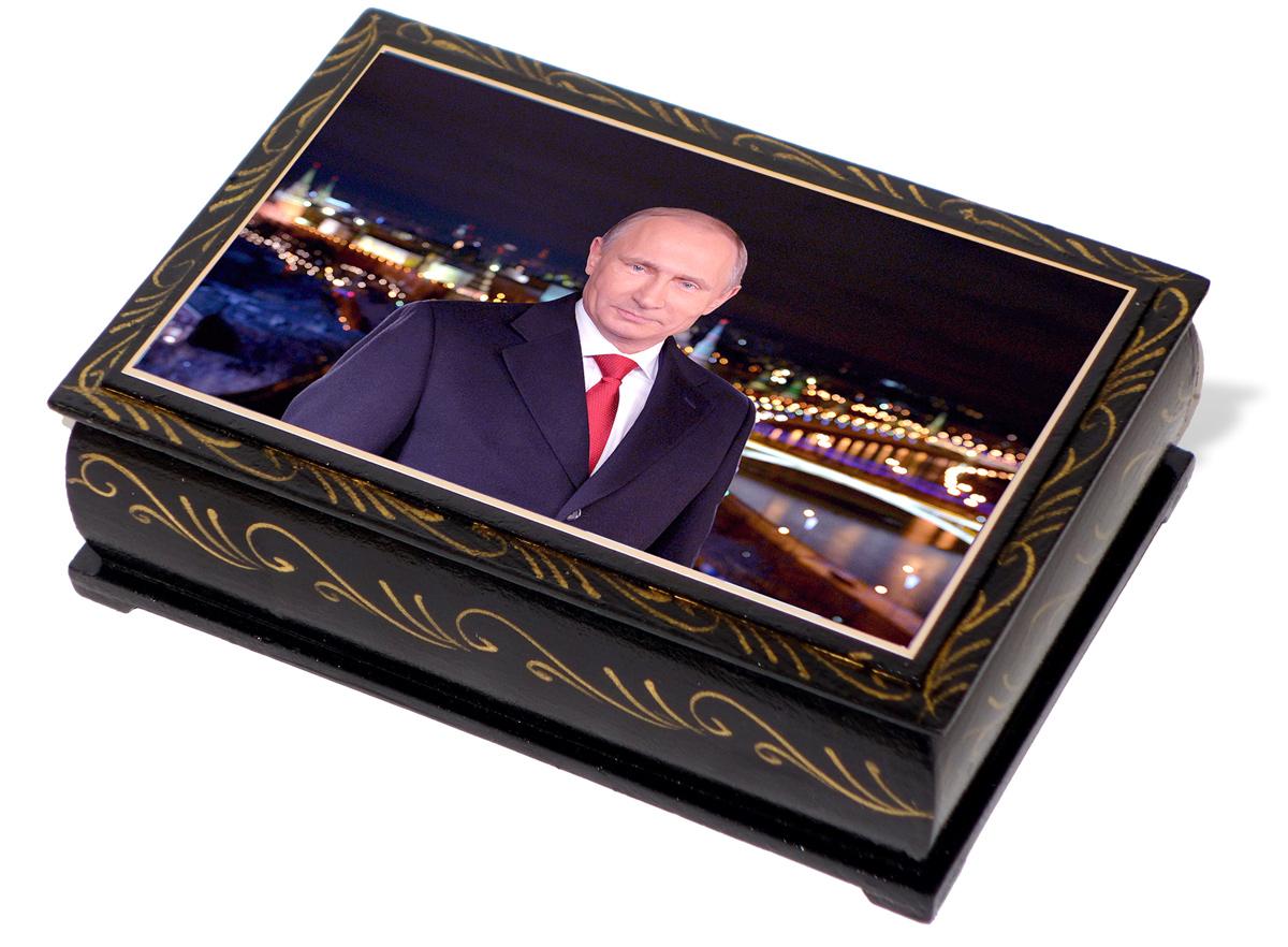 Кремлина Путин В. В. конфеты чернослив с миндалем в шоколадной глазури шкатулка подарочная, 300 г семушка чернослив 300 г