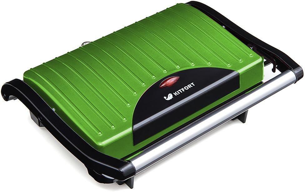 Kitfort КТ-1609-3 Panini Maker, Green бутербродница - Бутербродницы
