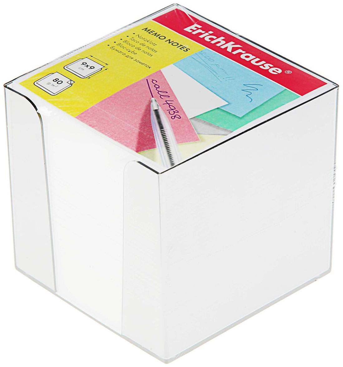 Erich Krause Блок для записей 9 x 9 см 26339132633913Часто появляется необходимость оставить небольшое послание коллеге, сделать пометку для родных или запомнить нужный телефон?Чтобы зафиксировать важную информацию, достаточно иметь при себе неброский, но необходимый в быту предмет — Блок бумаги для записей 9х9х9 см цветной в пластиковом боксе Белый, EK 4458. Этот канцелярский аксессуар займет минимум места в сумке или на рабочем столе.