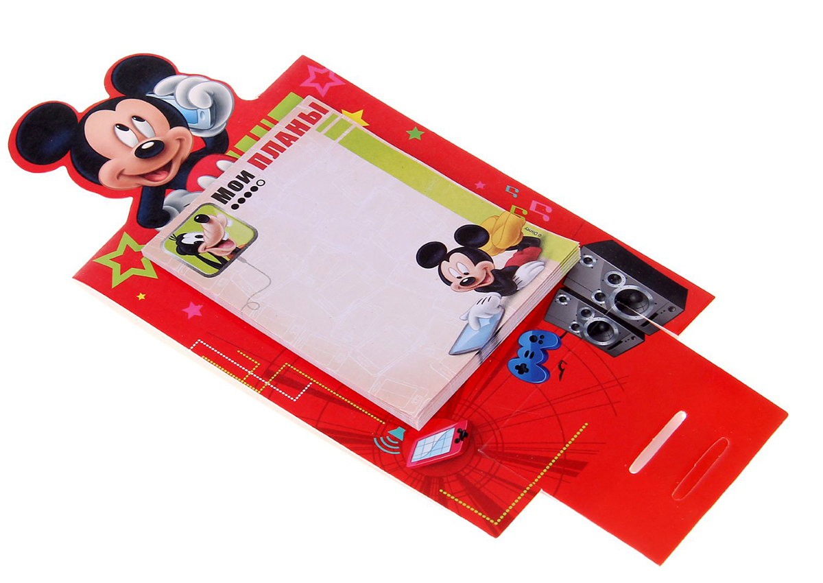 DisneyБлок для записей Мои планы 10 x 15 см 30 листов Он сохранит важные мысли,  новые идеи, номера телефонов или список...
